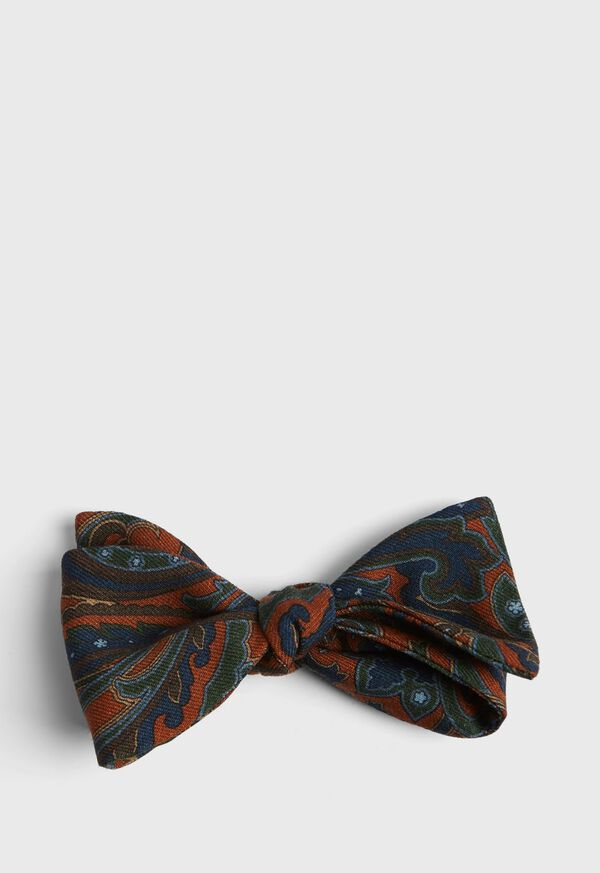 Wool Paisley Bow Tie, image 1