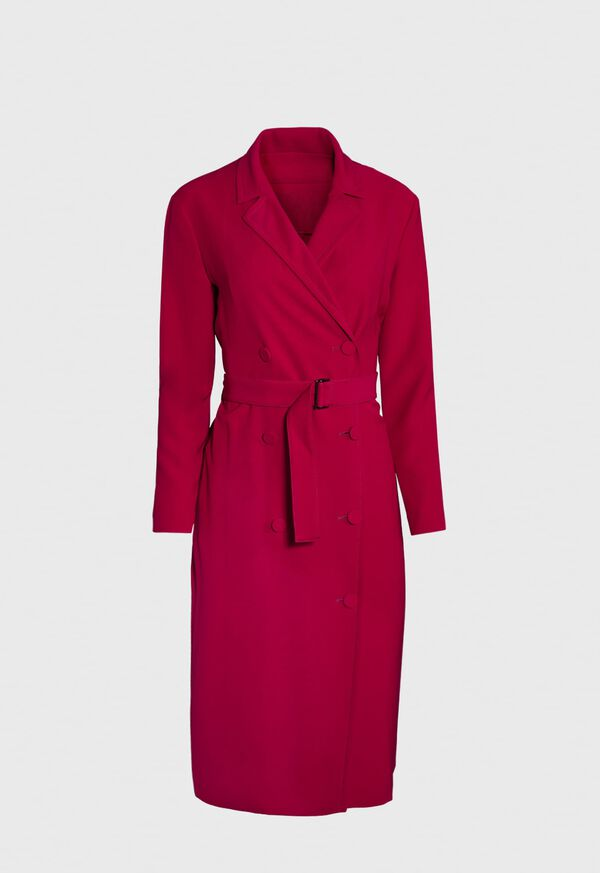 Double Breasted Belted Trench Dress, image 1