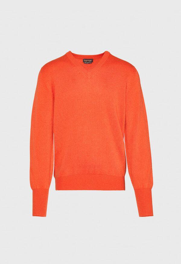 Scottish Cashmere V-Neck Sweater, image 23