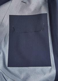 Navy Hooded Waterproof Jacket, thumbnail 5