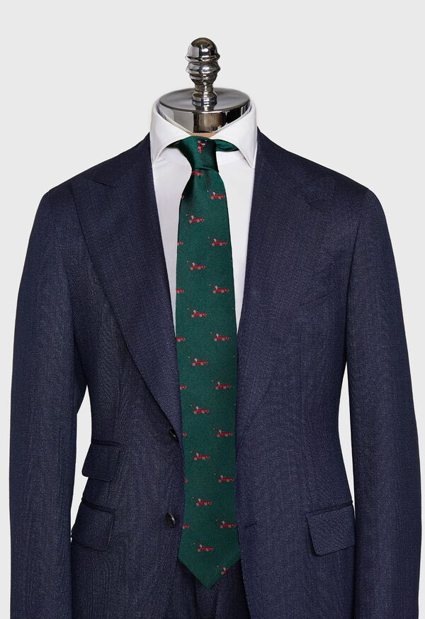 Green Santa Holiday Tie, image 2