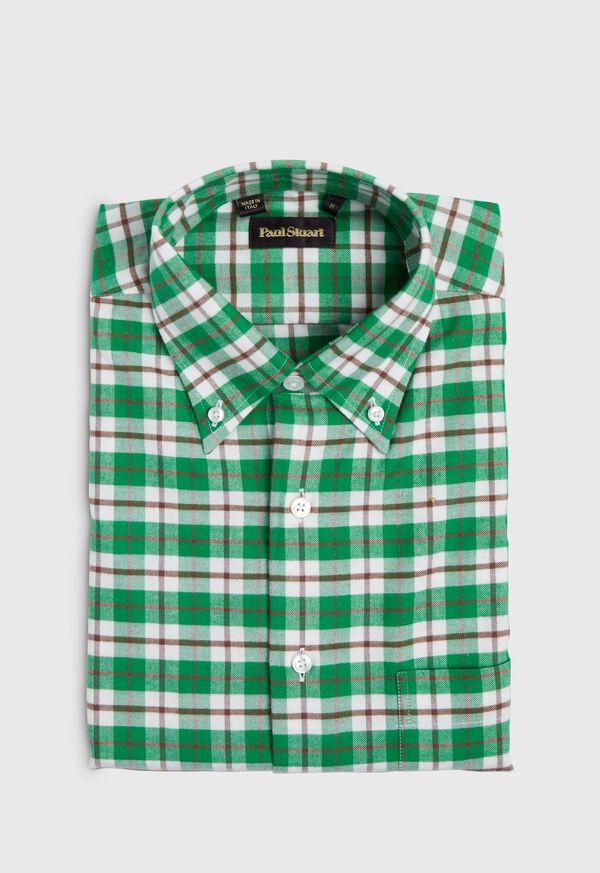 Plaid Flannel Sport Shirt, image 1