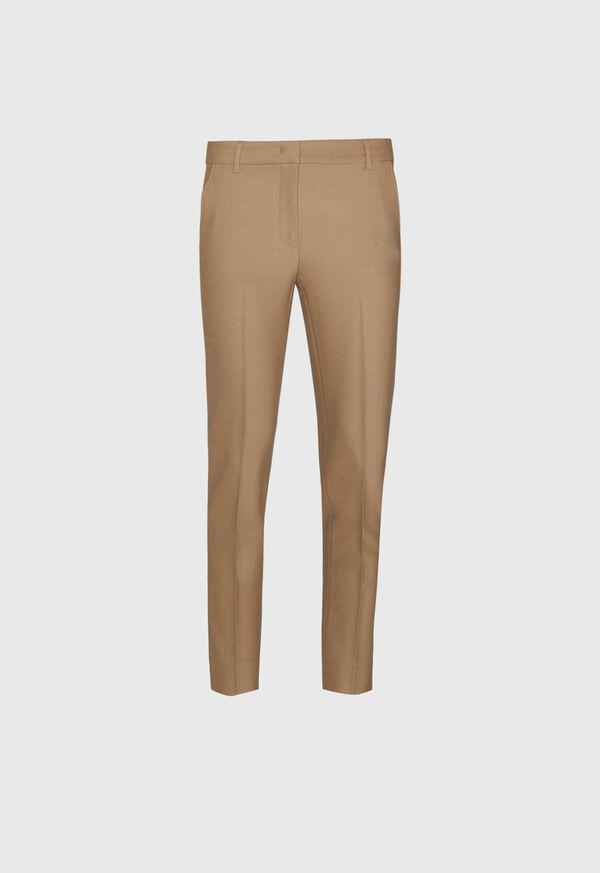 Wool Blend Trouser with Metallic Detail