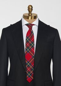 Red Tartan Wool Tie, thumbnail 2
