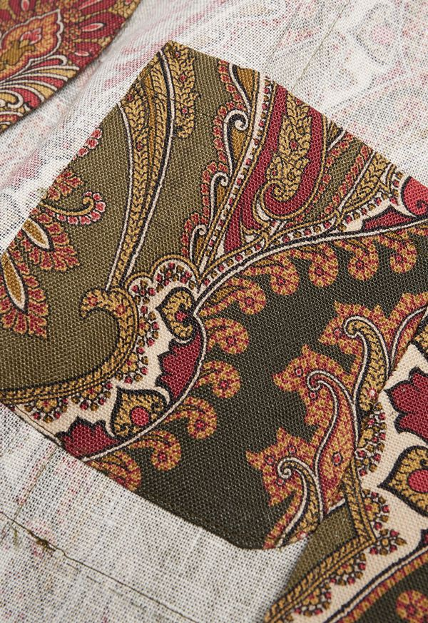 Paisley Print Soft Jacket, image 3