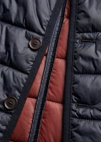 Nylon Button Front Quilted Vest, thumbnail 6