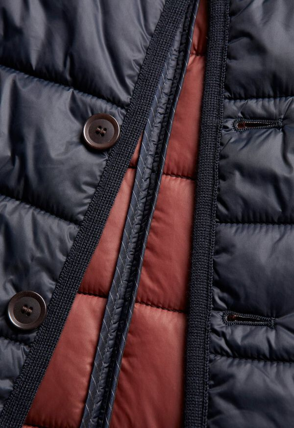 Nylon Button Front Quilted Vest, image 6