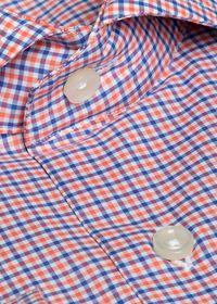 Cotton Mini Check Sport Shirt, thumbnail 2