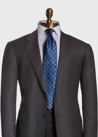 Gingham Check Silk Tie, thumbnail 2