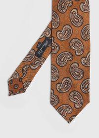 Silk Paisley Unlined Tie, thumbnail 1