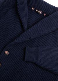 Ribbed-Knit Shawl Collar Cardigan, thumbnail 3