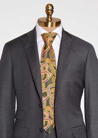 Oval Deco Print Silk Tie, thumbnail 2