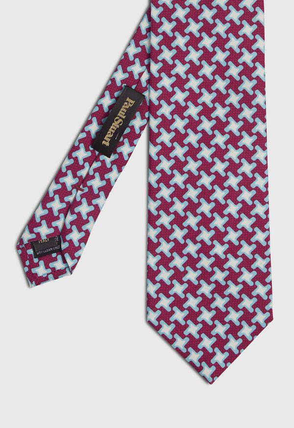 Three Color Houndstooth Tie, image 1