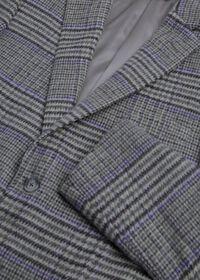 Purple Plaid Cashmere Sport Jacket, thumbnail 2