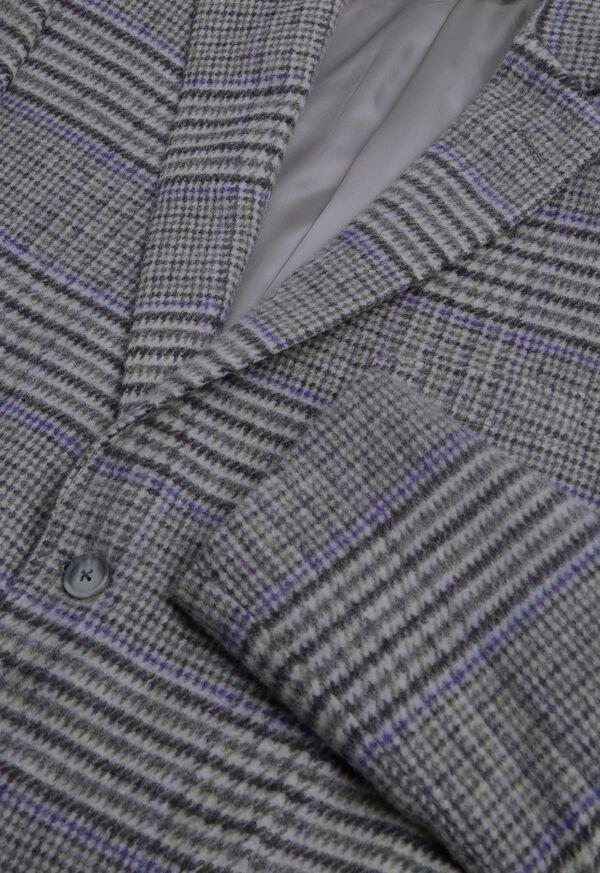 Purple Plaid Cashmere Sport Jacket, image 2