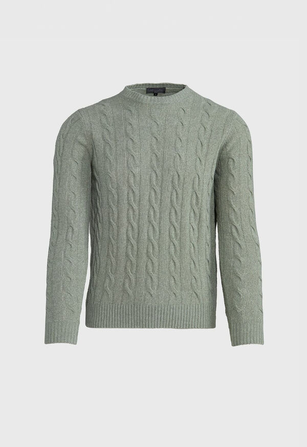 Boucle Cable Knit Sweater