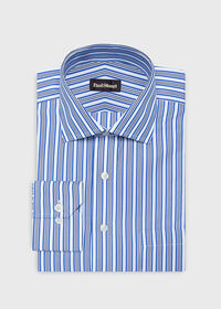 Cotton Wide Stripe Dress Shirt, thumbnail 1