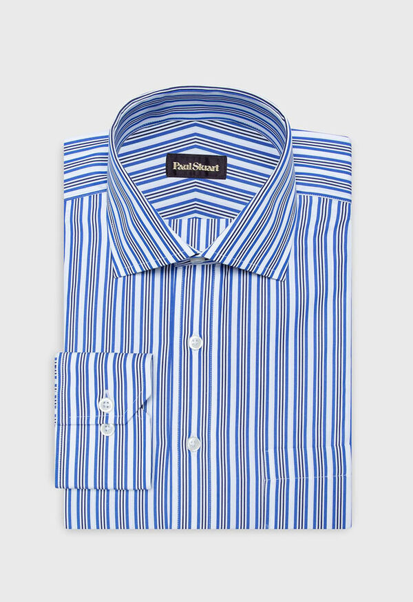 Cotton Wide Stripe Dress Shirt, image 1