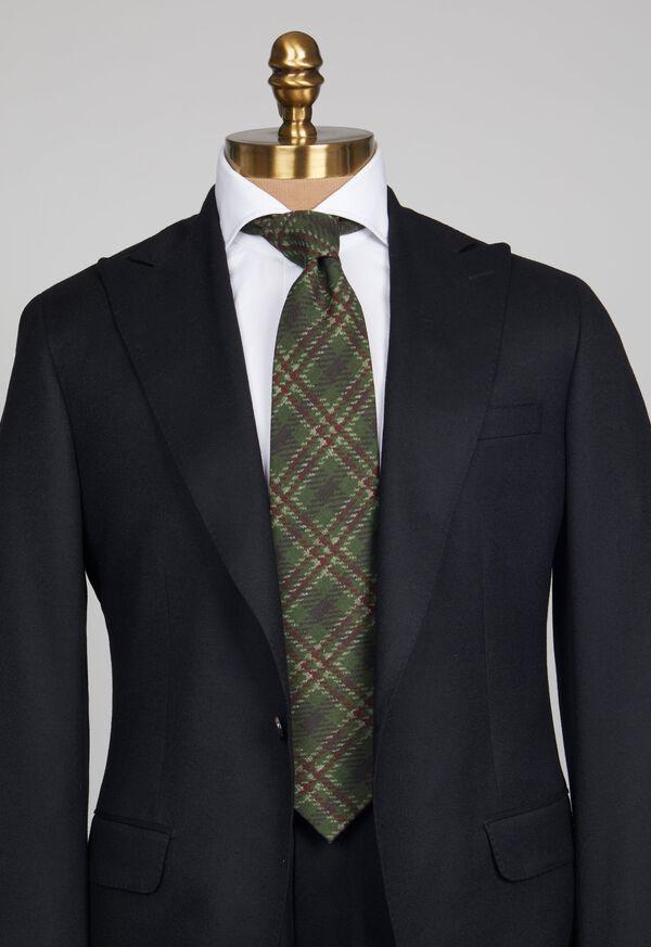 Wool Plaid Tie, image 2