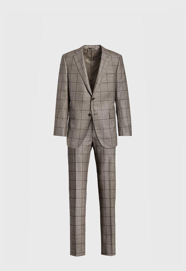 Wool Plaid Classic Shoulder Suit, image 1
