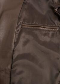 Brown Raw Cut Edge Suede Jacket, thumbnail 4