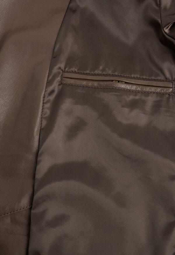 Brown Raw Cut Edge Suede Jacket, image 4