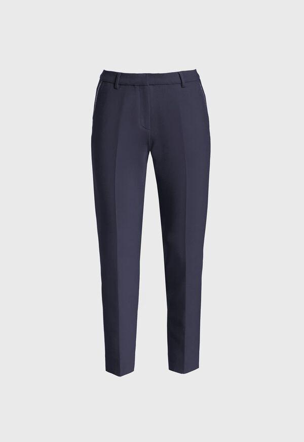 Wool Blend Trouser with Metallic Detail, image 1