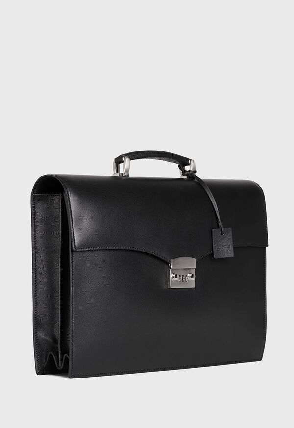 Single Gusset Briefcase With Curved Front Pocket, image 2