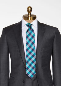 Oxford Check Silk Tie, thumbnail 2