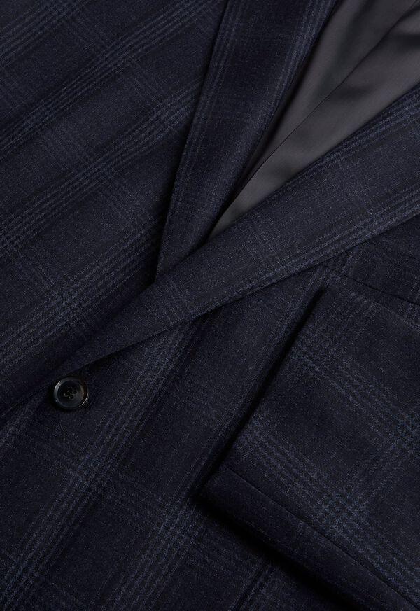 Super 150s Wool Plaid Suit, image 2