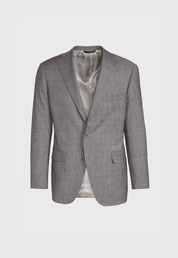 Grey Check with Lilac Windowpane Sport Jacket, image 1