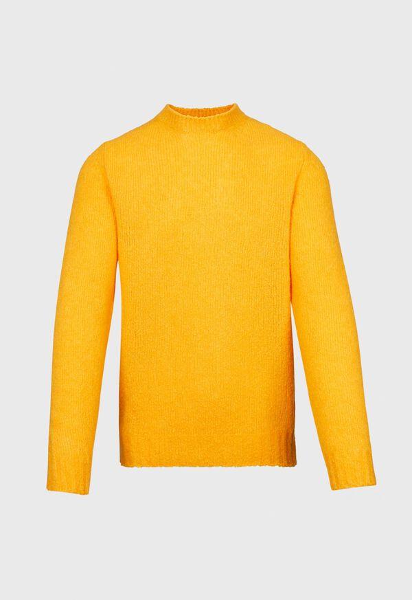 Wool Blend Boucle Crewneck Sweater