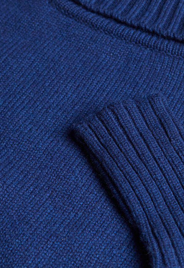 Cashmere Cropped Turtleneck Sweater, image 2
