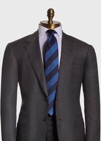 Textured Stripe Silk Tie, thumbnail 2