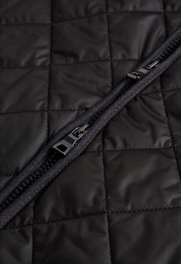 Nylon Quilted Vest with Piping, image 2