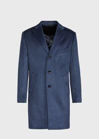 Mid Blue Cashmere Coat, thumbnail 1