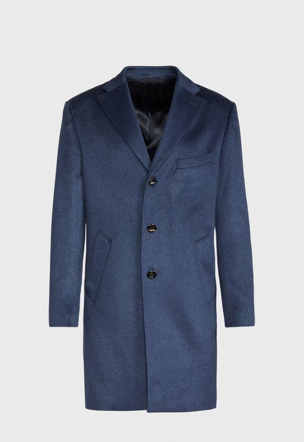 Mid Blue Cashmere Coat, image 1