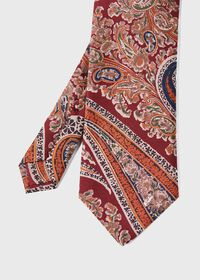 Silk Floral Paisley Tie, thumbnail 1