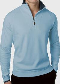 Pima Cotton 1/2 Zip Sweater, thumbnail 3