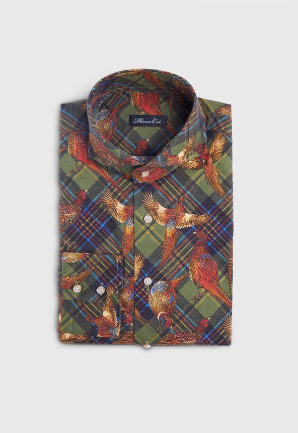 Pheasant Plaid Brushed Cotton Shirt, image 1