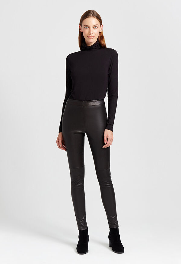 Stretch Leather Legging, image 6