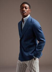 Blue Linen Jacket, thumbnail 2