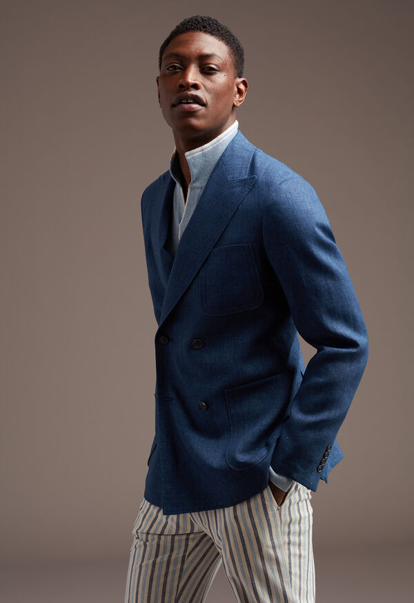 Blue Linen Jacket, image 2