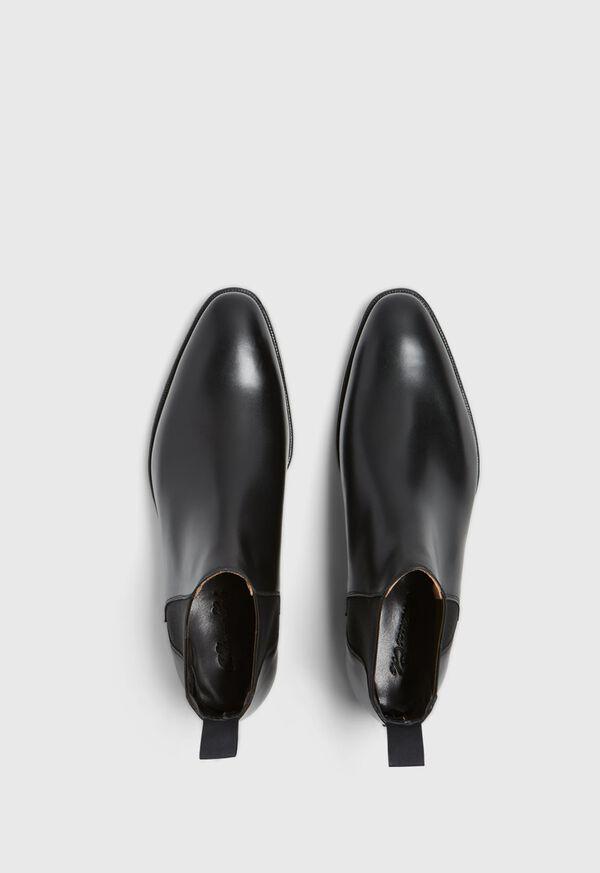 Black leather Half Chelsea Boot, image 2