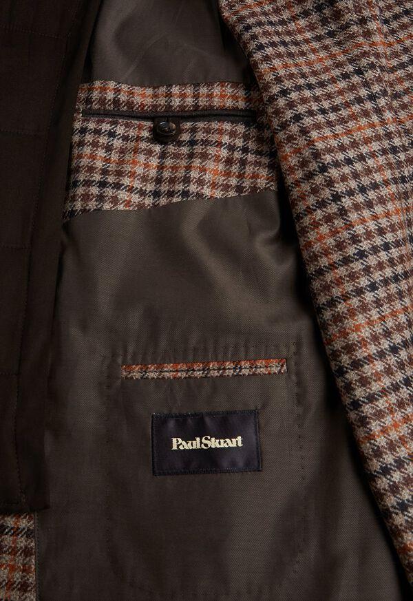 Plaid Travel Jacket with Suede Vest, image 5