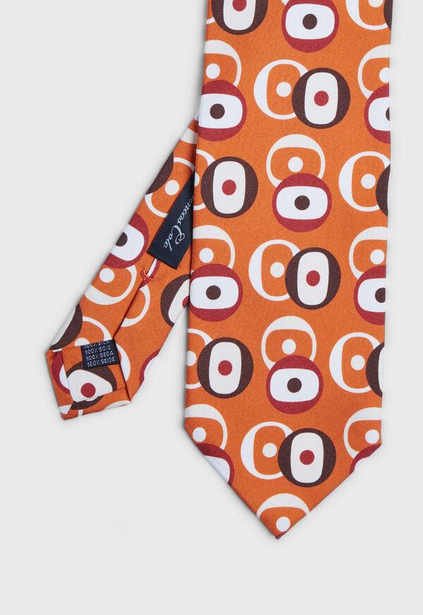 Printed Deco Circles Tie, image 1