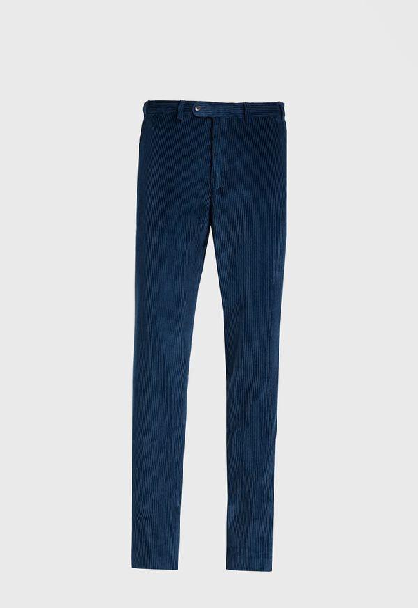 Cotton Wide Wale Plain Front Trouser, image 1