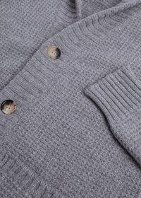 Scottish Cashmere Shawl Collar Cardigan, thumbnail 2