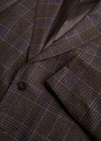 Brown and Lavender Plaid Jacket, thumbnail 2