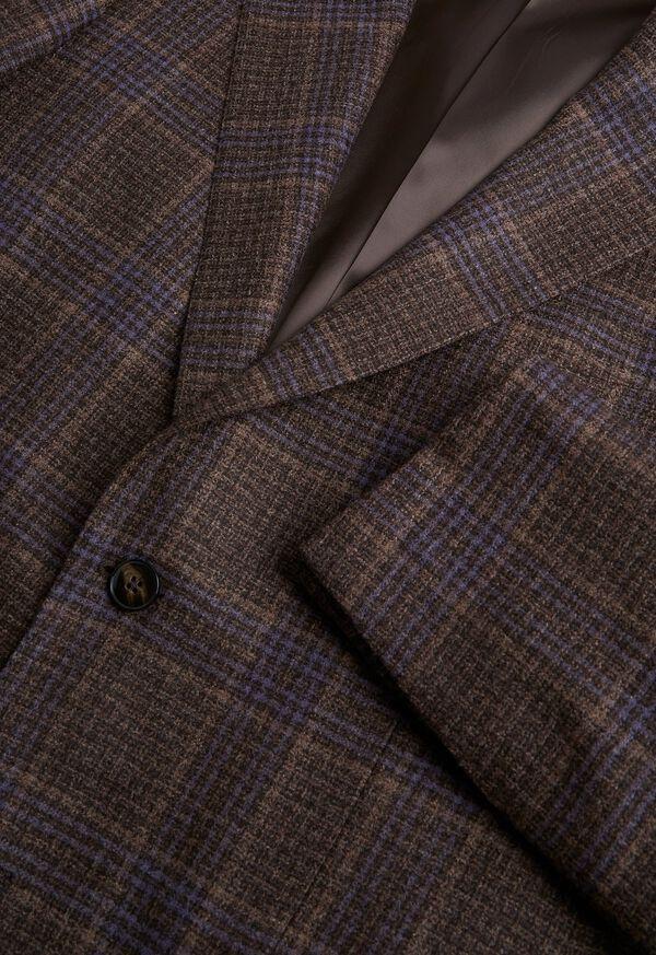 Brown and Lavender Plaid Jacket, image 2